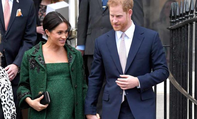 baby Harry and Meghan already born
