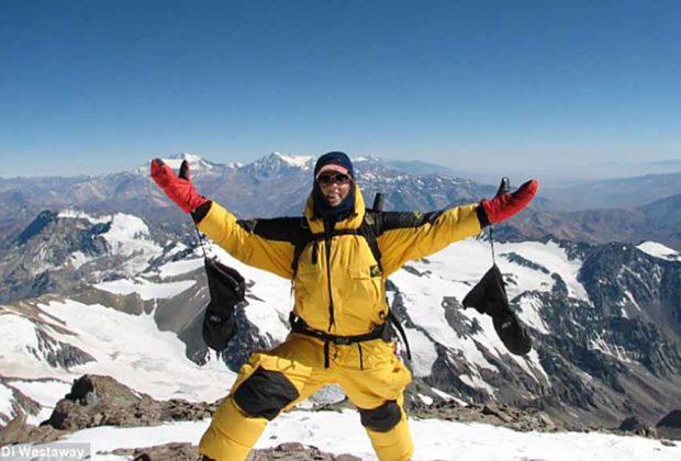 climber conquer Mount Everest