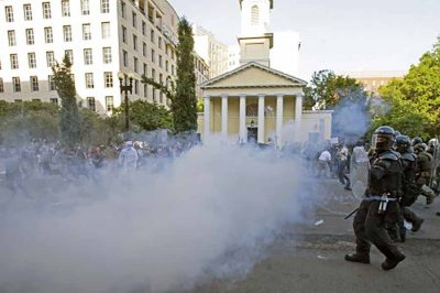 tear gas banned on peaceful protest