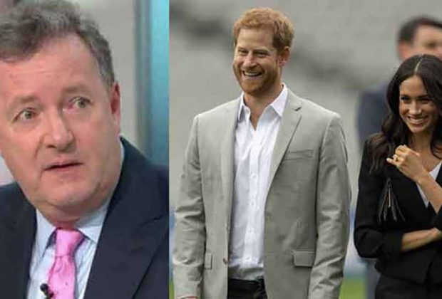 Piers Morgan with Harry and Meghan