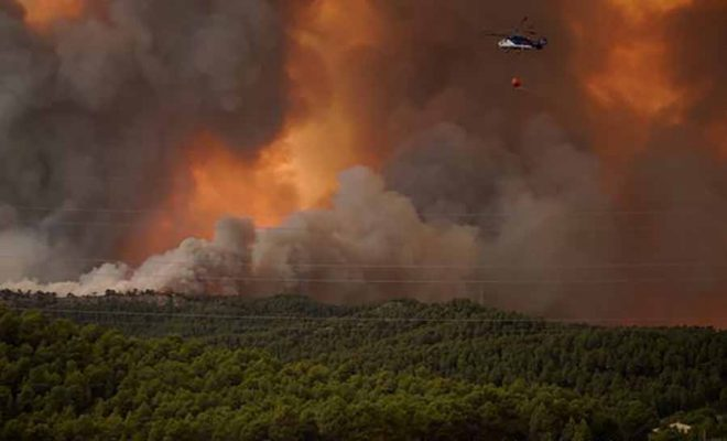 Fire in Italy and spain